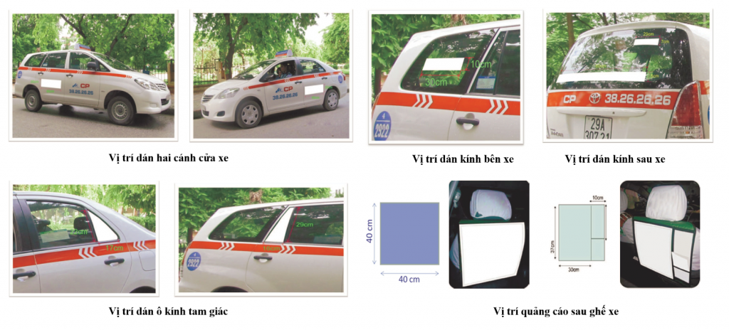 dịch vụ quảng cáo trên taxi
