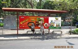 Quảng cáo trên nhà chờ xe bus Hồ Chí Minh