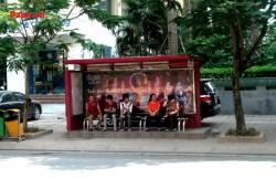 Quảng cáo nhà chờ xe buýt tại siêu thị Seiyo Phạm Ngọc Thạch - Hà Nội