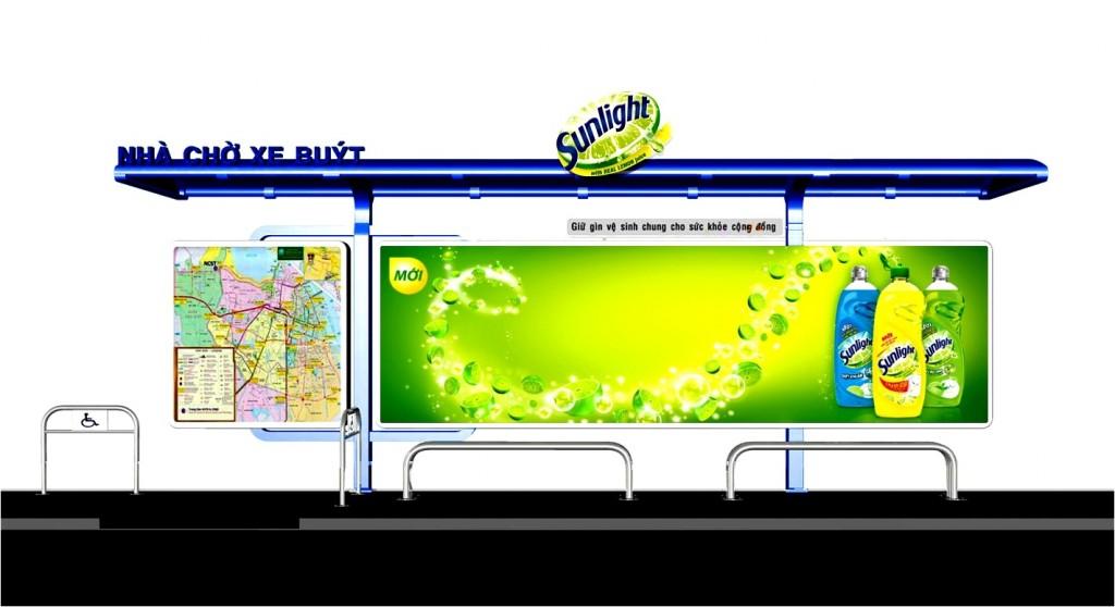 quảng cáo nhà chờ xe buýt 40 Ba Huyen Thanh Quan