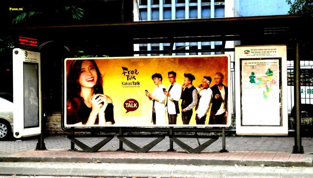 Quảng cáo nhà chờ xe buýt tại 104 Nguyễn Khuyến - Hà Nội