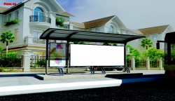 Quảng cáo nhà chờ xe buýt đối diện 58 Bà Huyện Thanh Quan