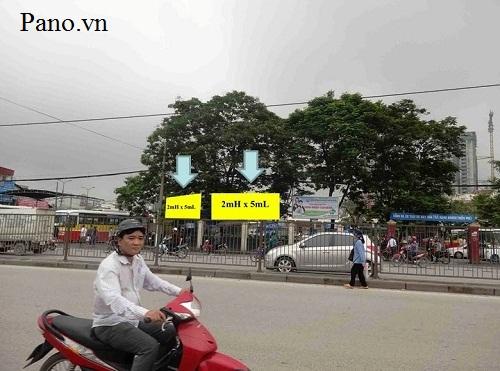 quảng cáo biển hộp đèn tại bến xe Giáp Bát