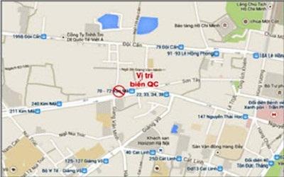 Quảng cáo Pano tại 104 Kim Mã - Ba Đình