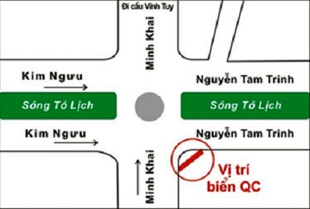 quảng cáo pano tại ngã 4 Minh Khai - Kim Ngưu