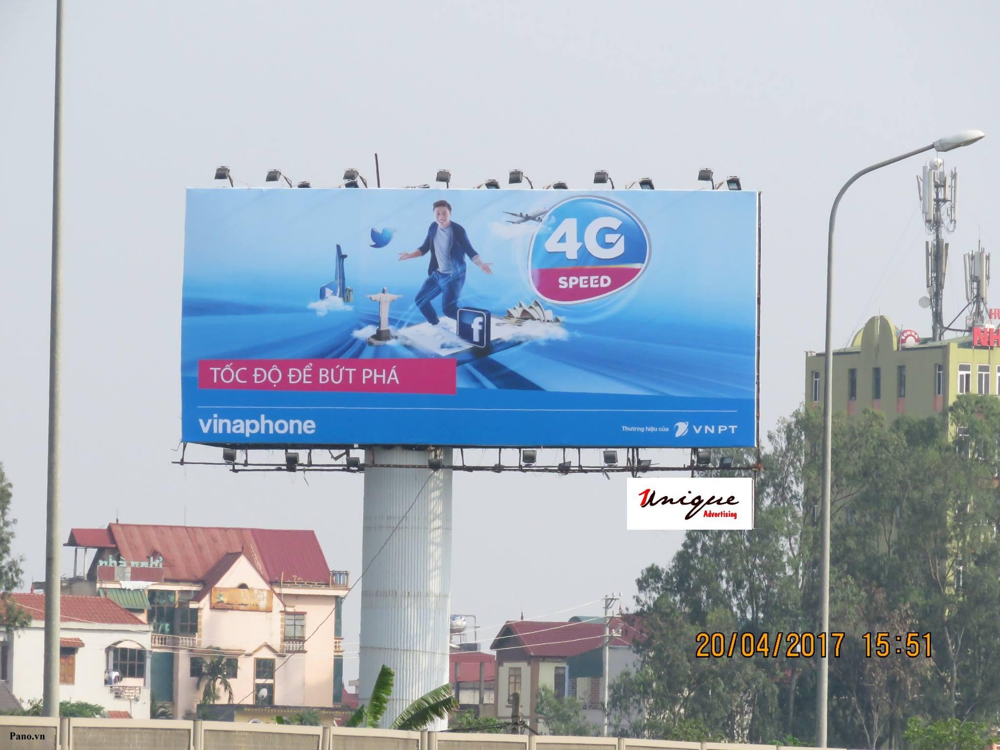 quảng cáo pano vinaphone 4G