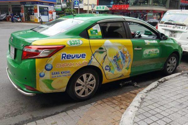 quảng cáo trên xe taxi tại sóc trăng