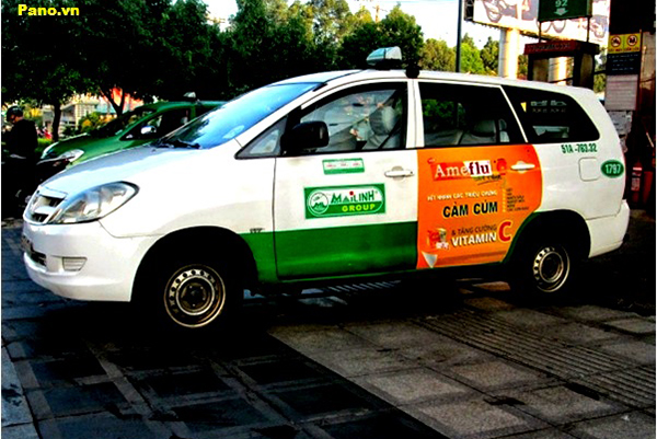 quảng cáo trên taxi