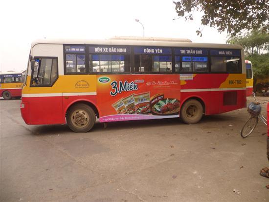 quảng cáo trên xe buýt bắc ninh