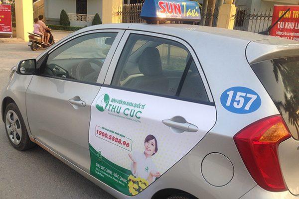 quảng cáo trên Taxi, xe Bus tại Bắc Ninh