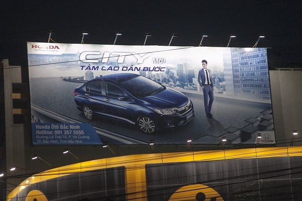 Pano quảng cáo ngoài trời của Honda City tại Bắc Ninh