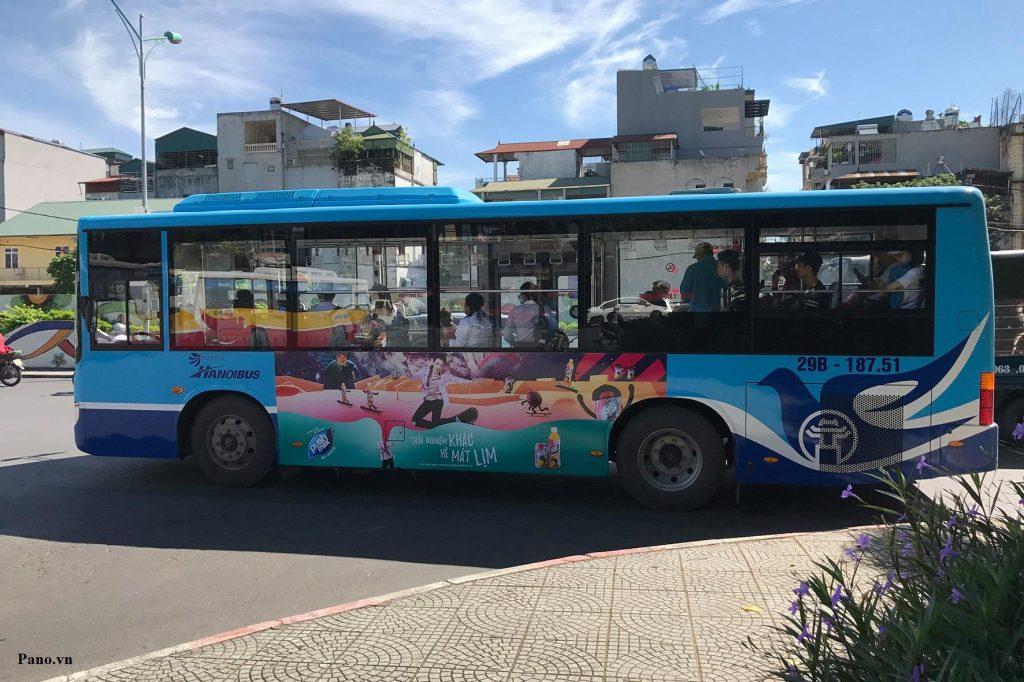 Pushmax chạy quảng cáo trên xe buýt Hà Nội