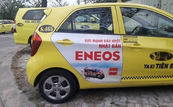 Dầu nhờn Eneos quảng cáo trên taxi