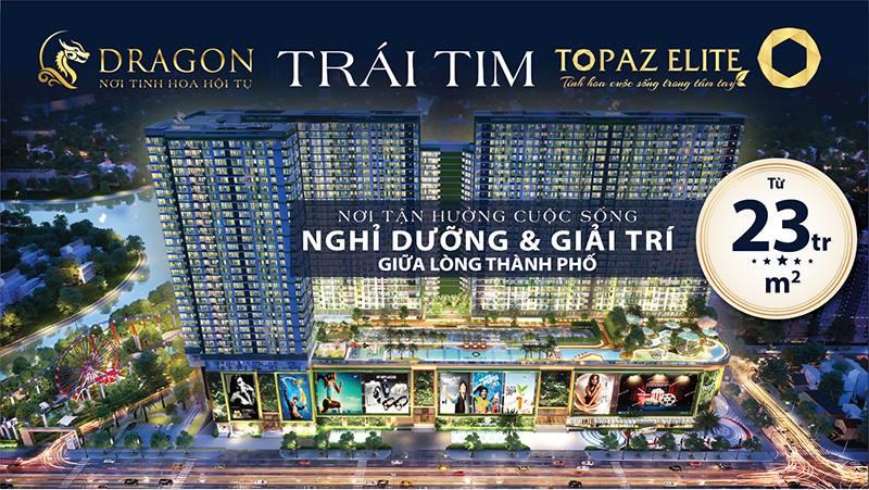 Bất động sản Topaz Elite quảng cáo trên taxi