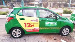 quảng cáo taxi