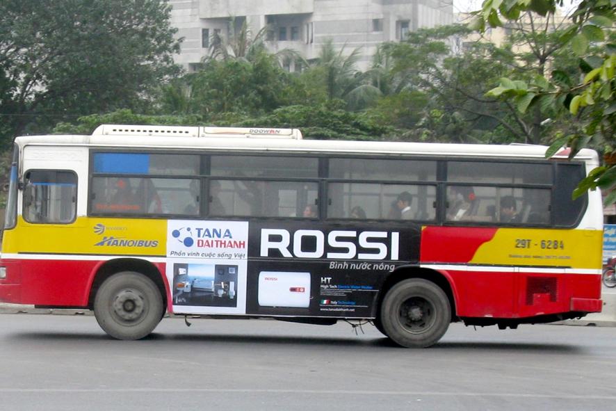 quảng cáo trên xe bus tại bắc ninh