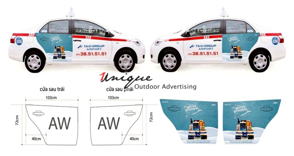 quảng cáo trên xe taxi có cần giấy phép không
