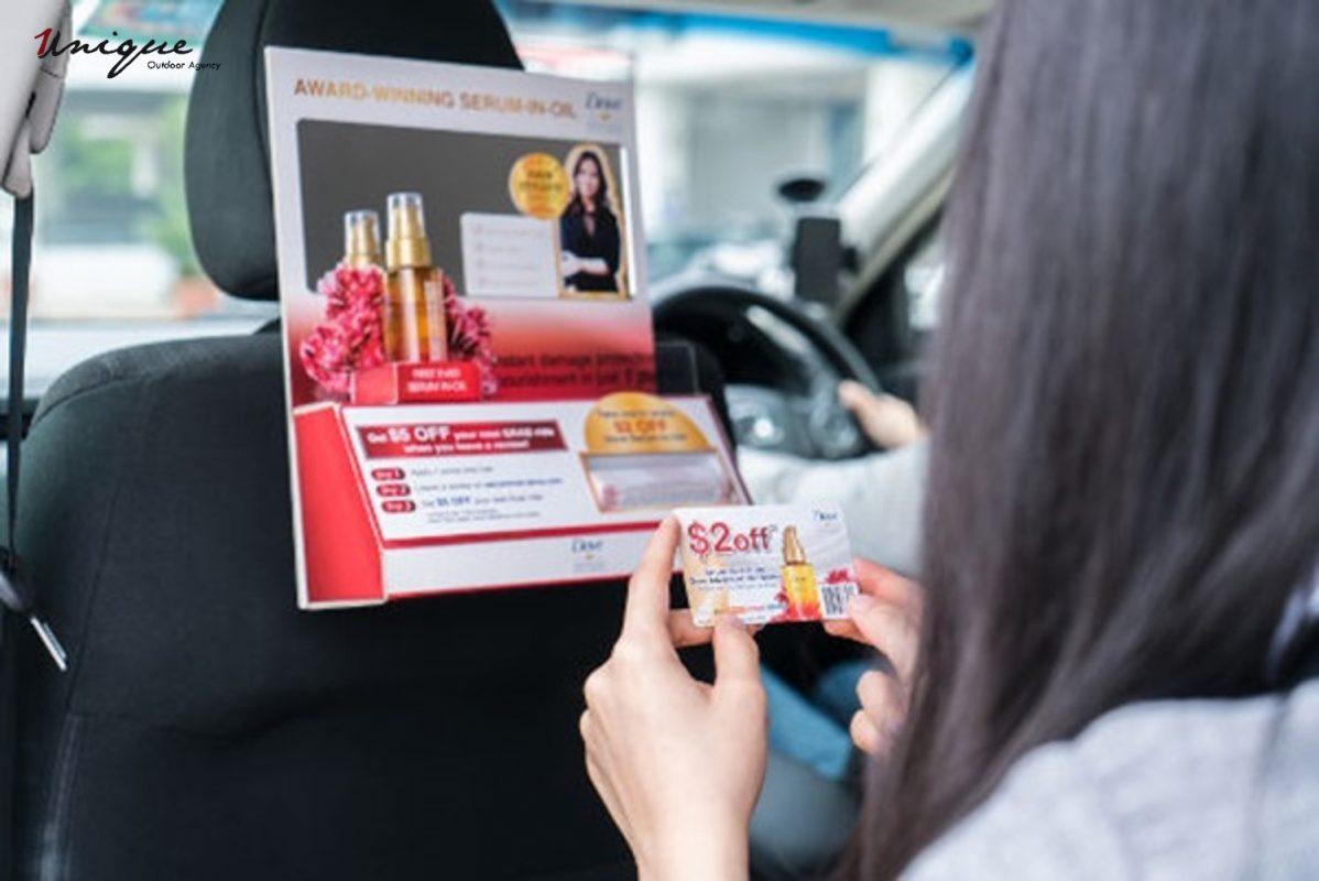 Unique quảng cáo trên ô tô