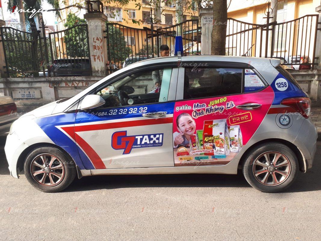 tư vấn và thi công quảng cáo trên xe taxi toàn quốc