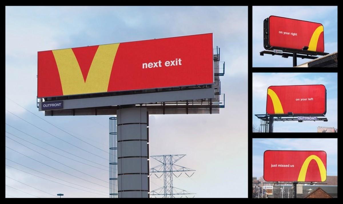 chiến dịch quảng cáo ngoài trời follow the arches của mcdonalds