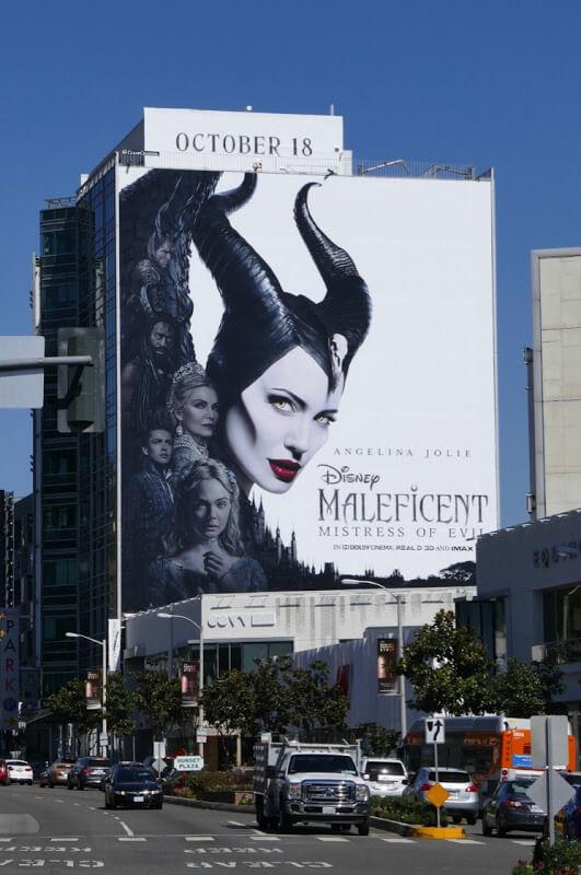 quảng cáo billboard cho phim maleficent