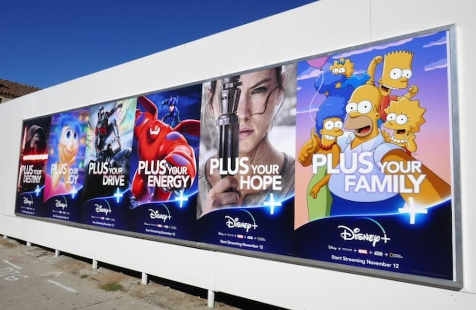 quảng cáo ngoài trời cho disney