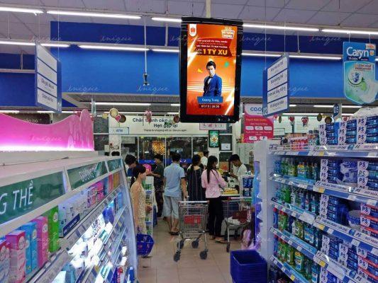 quảng cáo tại siêu thị vào dịp Tết