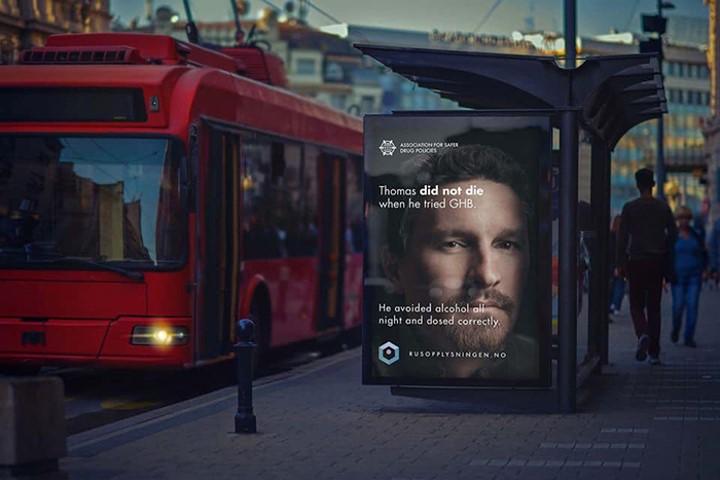 quảng cáo ngoài trời lên án tác hại của ma túy