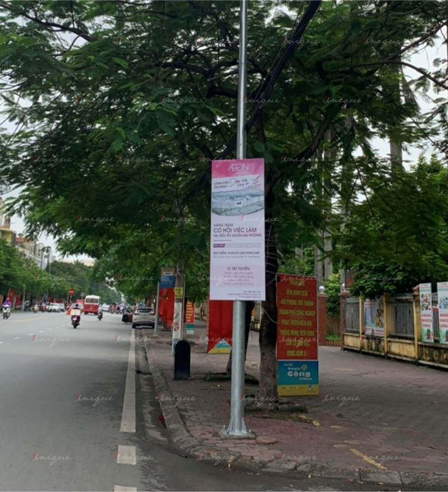 aeon mall hải phòng quảng cáo banner