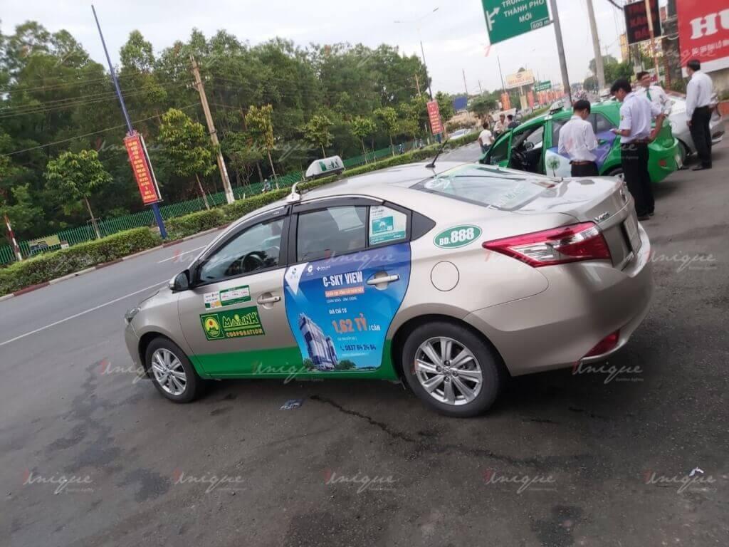 bất động sản c-skyview quảng cáo taxi