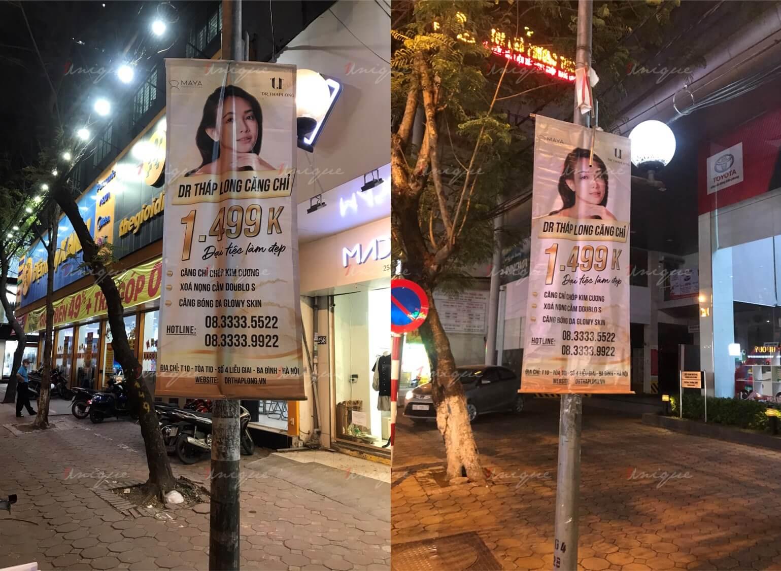 thẩm mỹ viện maya quảng cáo banner