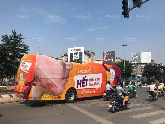 decumar quảng cáo xe buýt và luxury roadshow