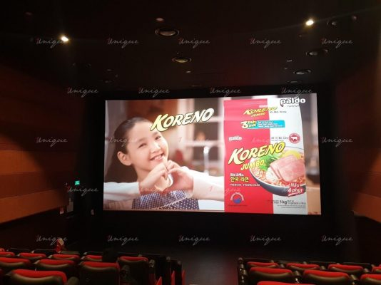 mỳ koreno quảng cáo tại rạp chiếu phim