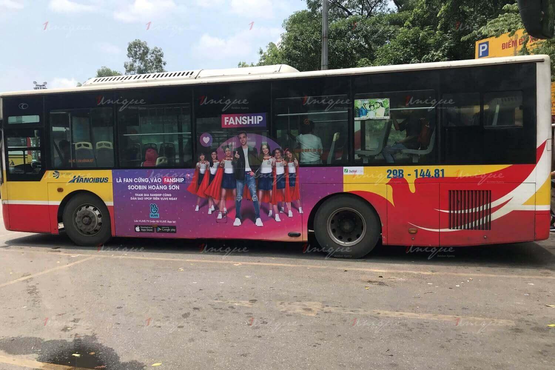 naver quảng cáo trên xe bus