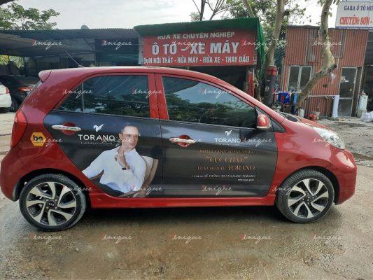 Torano phủ sóng thương hiệu với chiến dịch quảng cáo trên ô tô